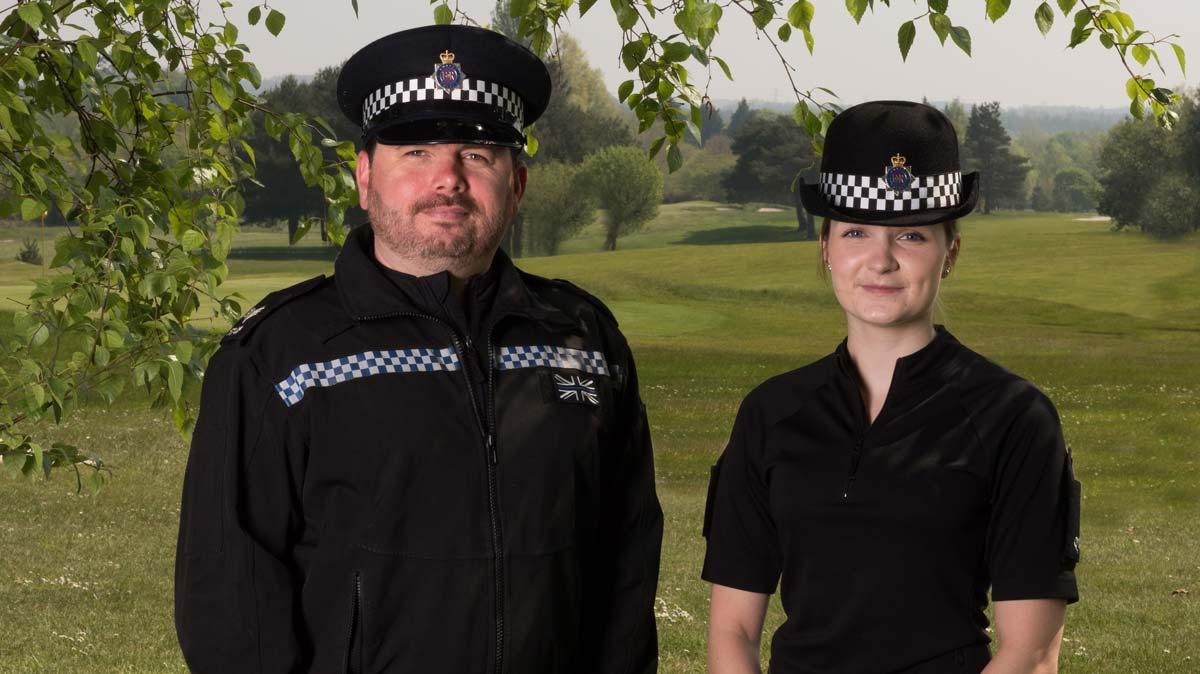 Sgt Simon Kempton and PC Charlotte Harvey