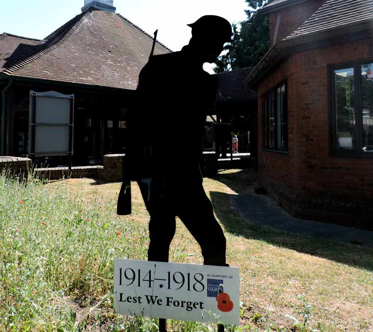 Silent Soldier Decapitated in Ferndown