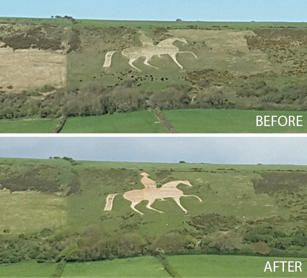 200-year-old White Horse at Osmington pales into significance