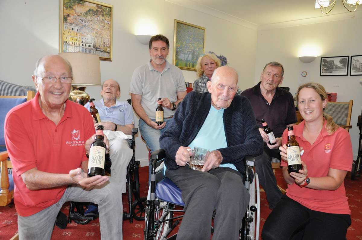 103-year-old man samples favourite tipple at Brook View