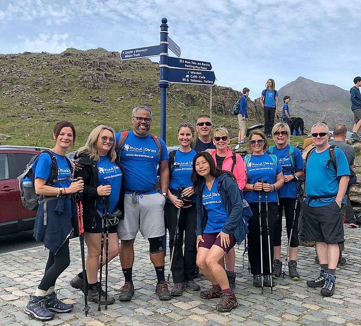 The group from Douch Family Funeral Directors before they took on Snowdon for charity