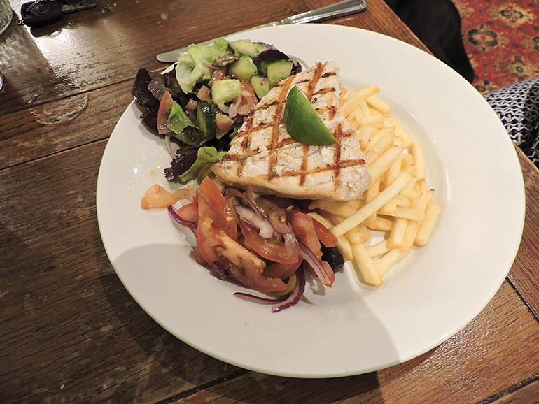 Horton Inn swordfish steak