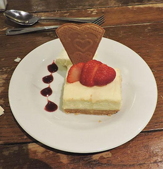 Horton Inn white chocolate cheesecake