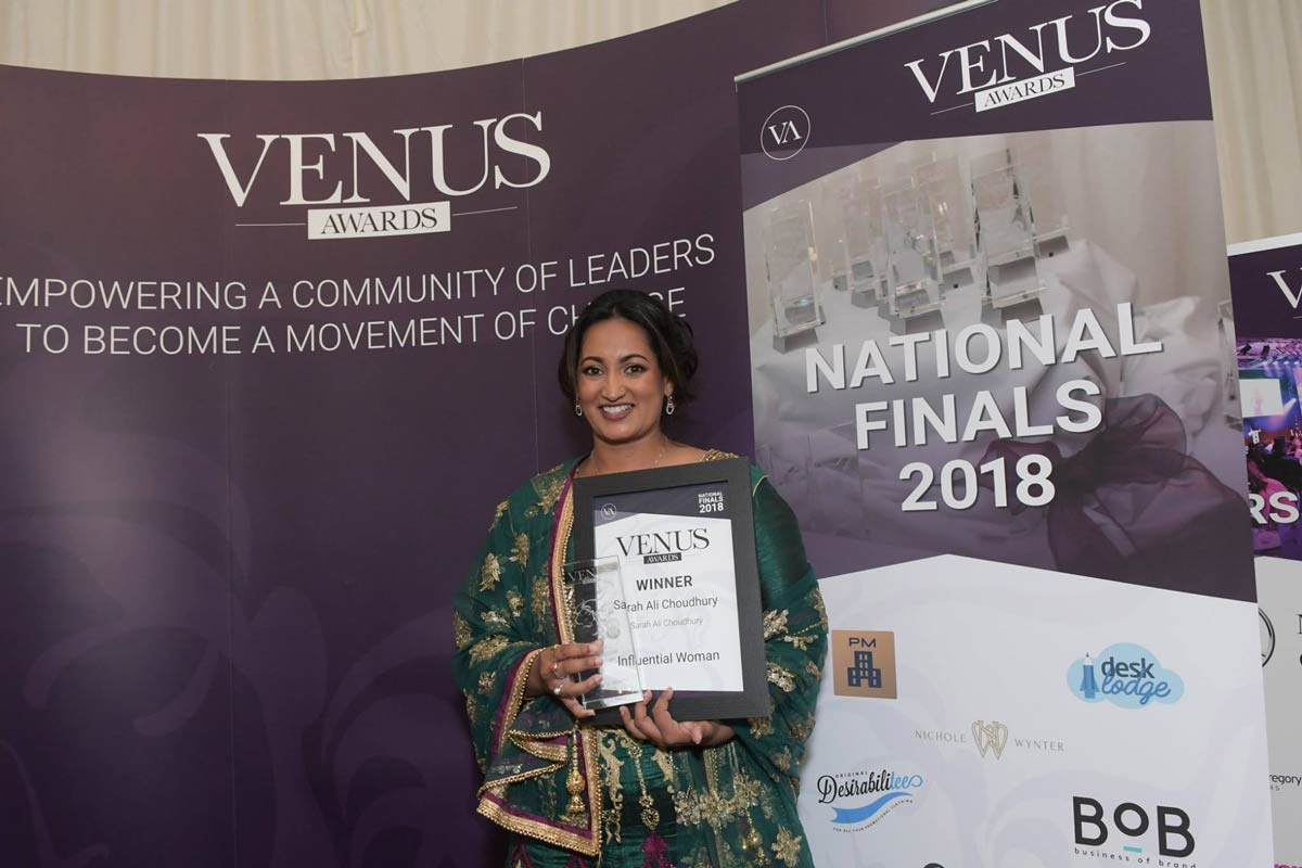 Sarah Ali Choudhary at the Venus Award National Finals