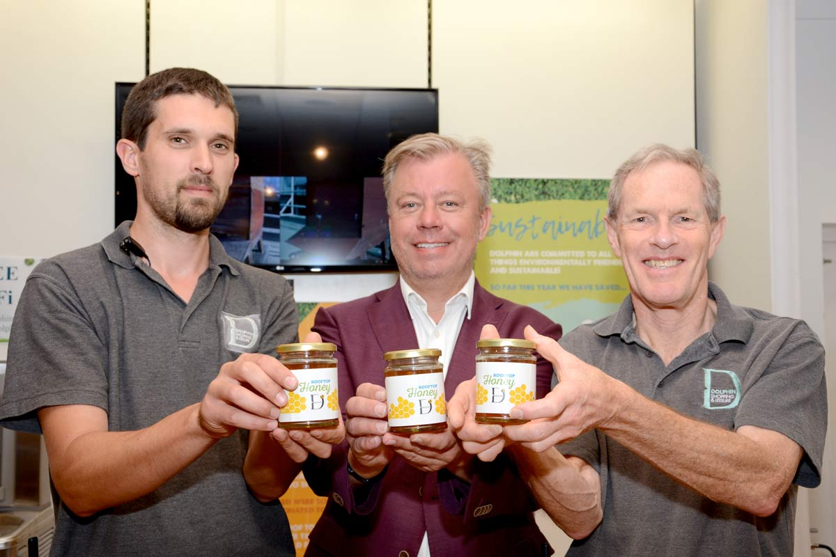 Rooftop honey gathered by Poole bees raises money for charity