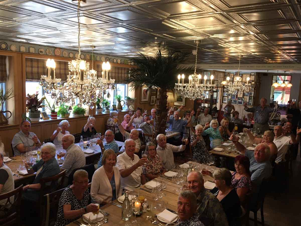 Hall & Woodhouse's pensioner's lunch was held at The Grasshopper in Poole