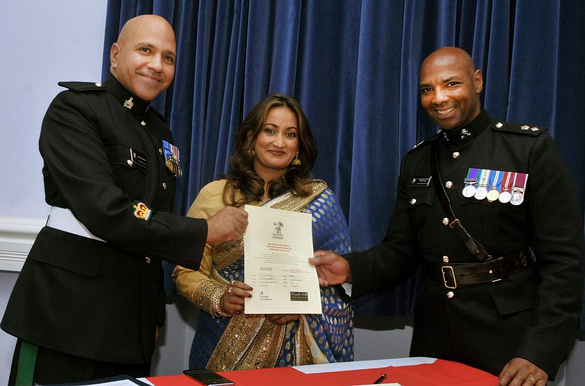 Dorset-based TV Chef is presented with Armed Forces Covenant