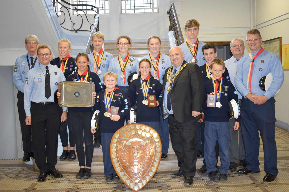 Mayor of Poole celebrates Lilliput Sea Scouts' success