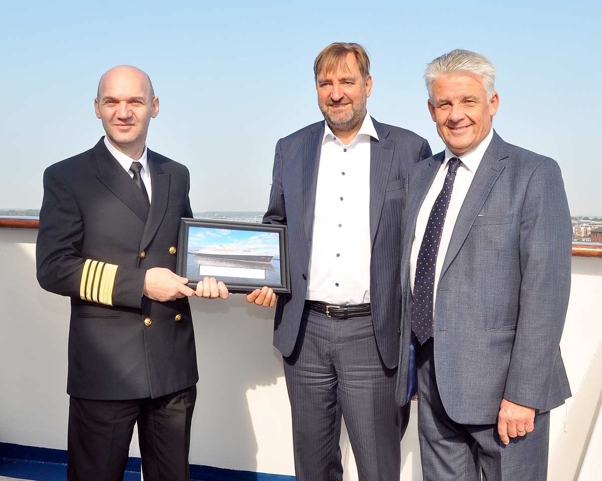 History made by Astoria cruise ship in Poole port