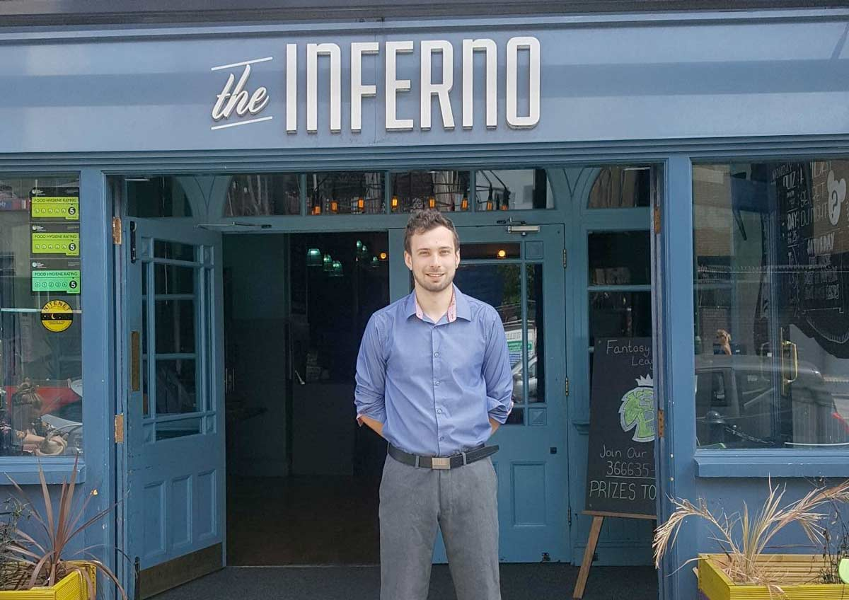 House of Commons reception for manager of the Inferno in bournemouth