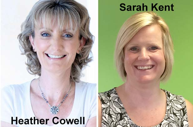 Heather Cowell and Sarah Kent