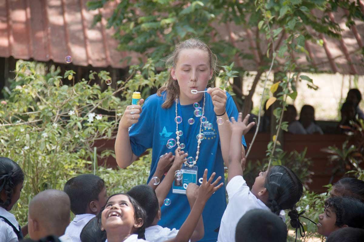 Hands on student volunteers bring joy to Ocean Stars in Sri Lanka