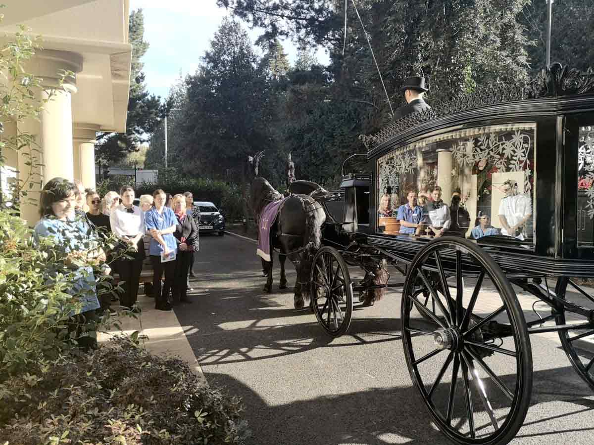 Funeral service held at care home for much loved resident