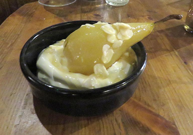 Avon Causeway poached pear