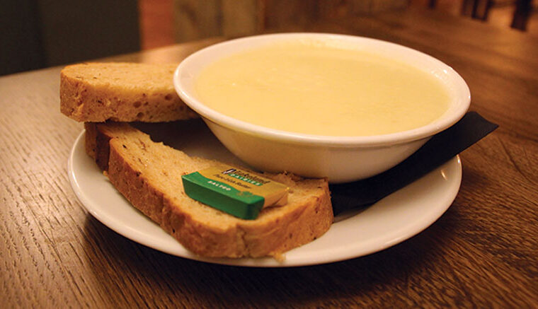 Soup of the day: homemade leek and potato