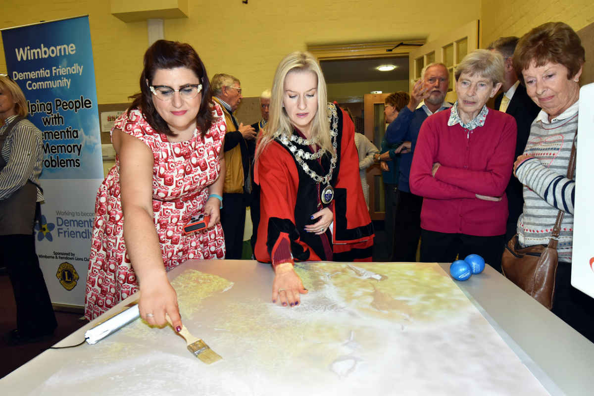 Wimborne Dementia Friendly Community brings the Magic Table to Wimborne.