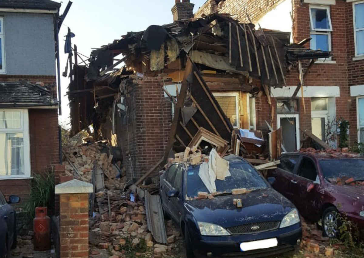 Two people rescued after explosion in Poole
