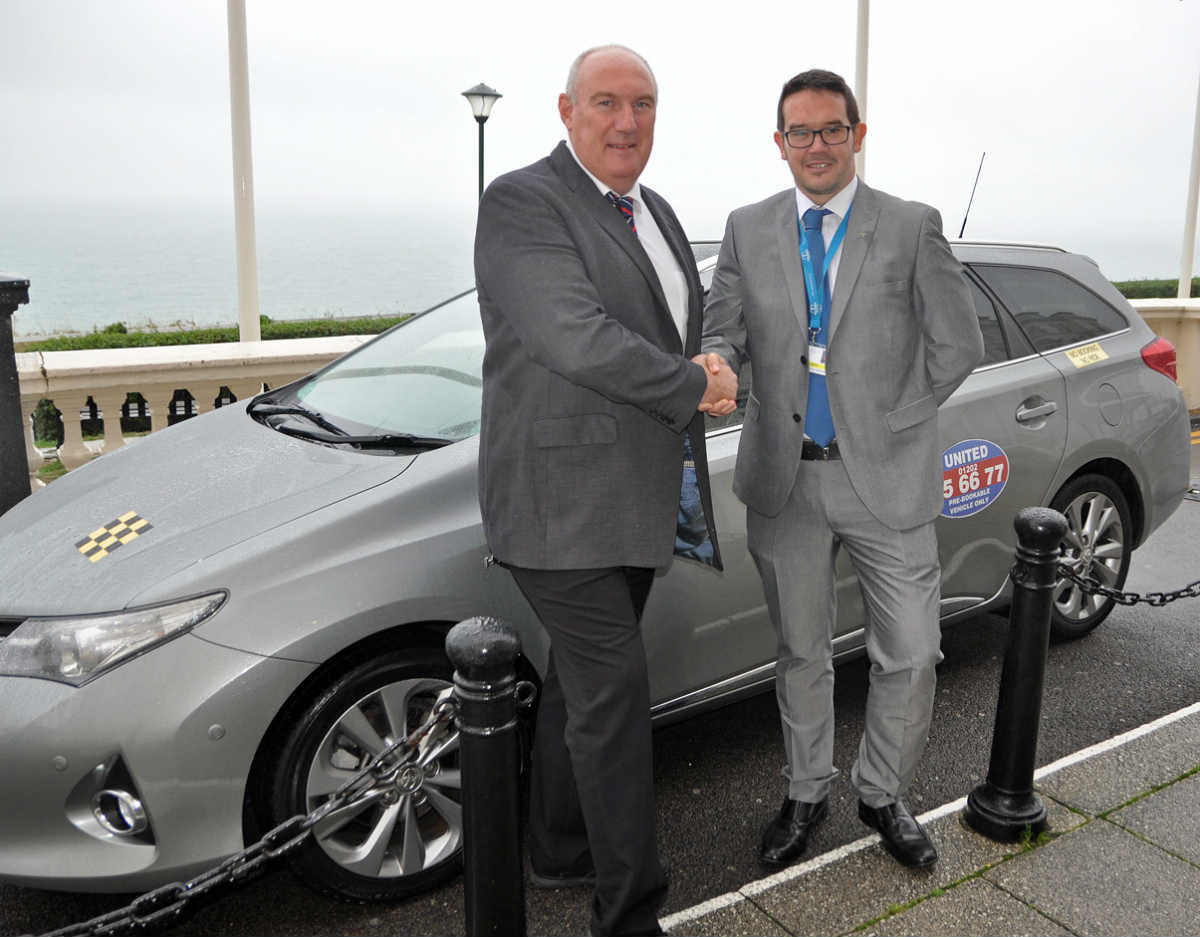 United Taxis gives local charity a lift
