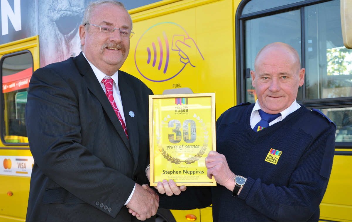 Stephen's 30 years with the Yellow Buses