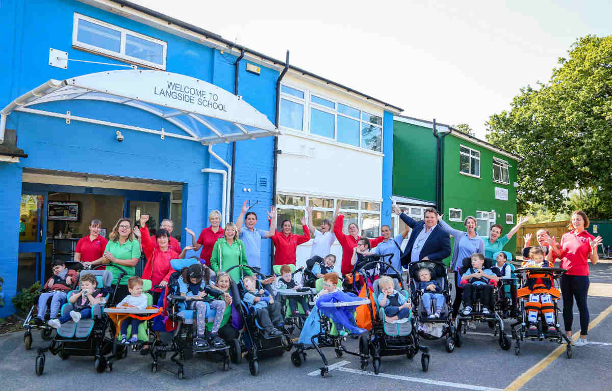 Care home neighbours give Dorset school a brighter look