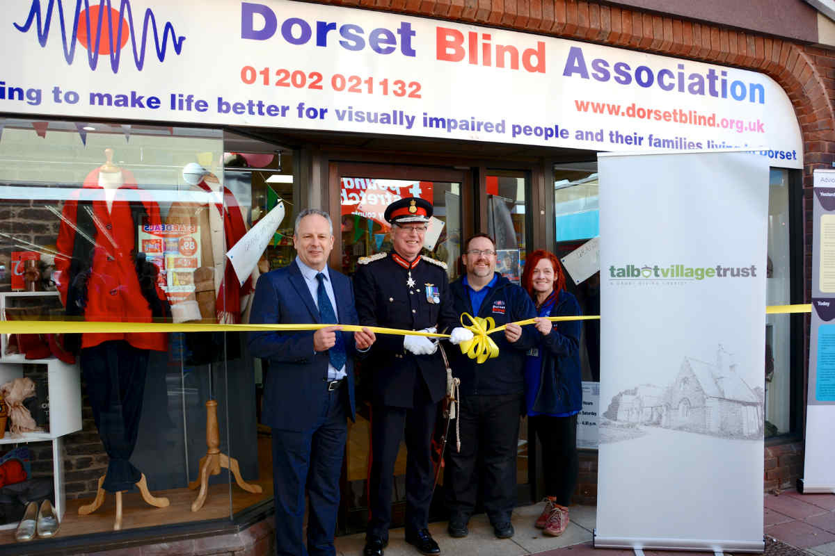 Talbot Village Trust supports Dorset Blind Association's new shop
