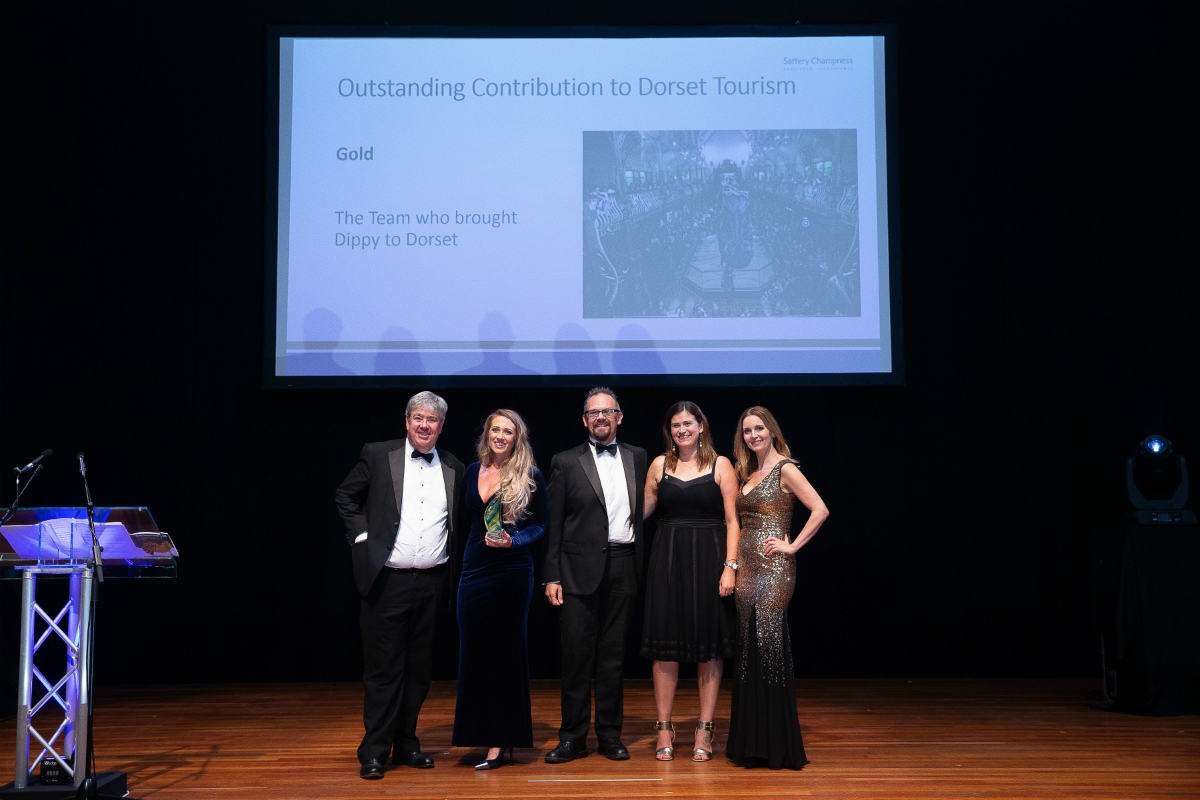 Dippy in Dorset Crowned Tourism Champion