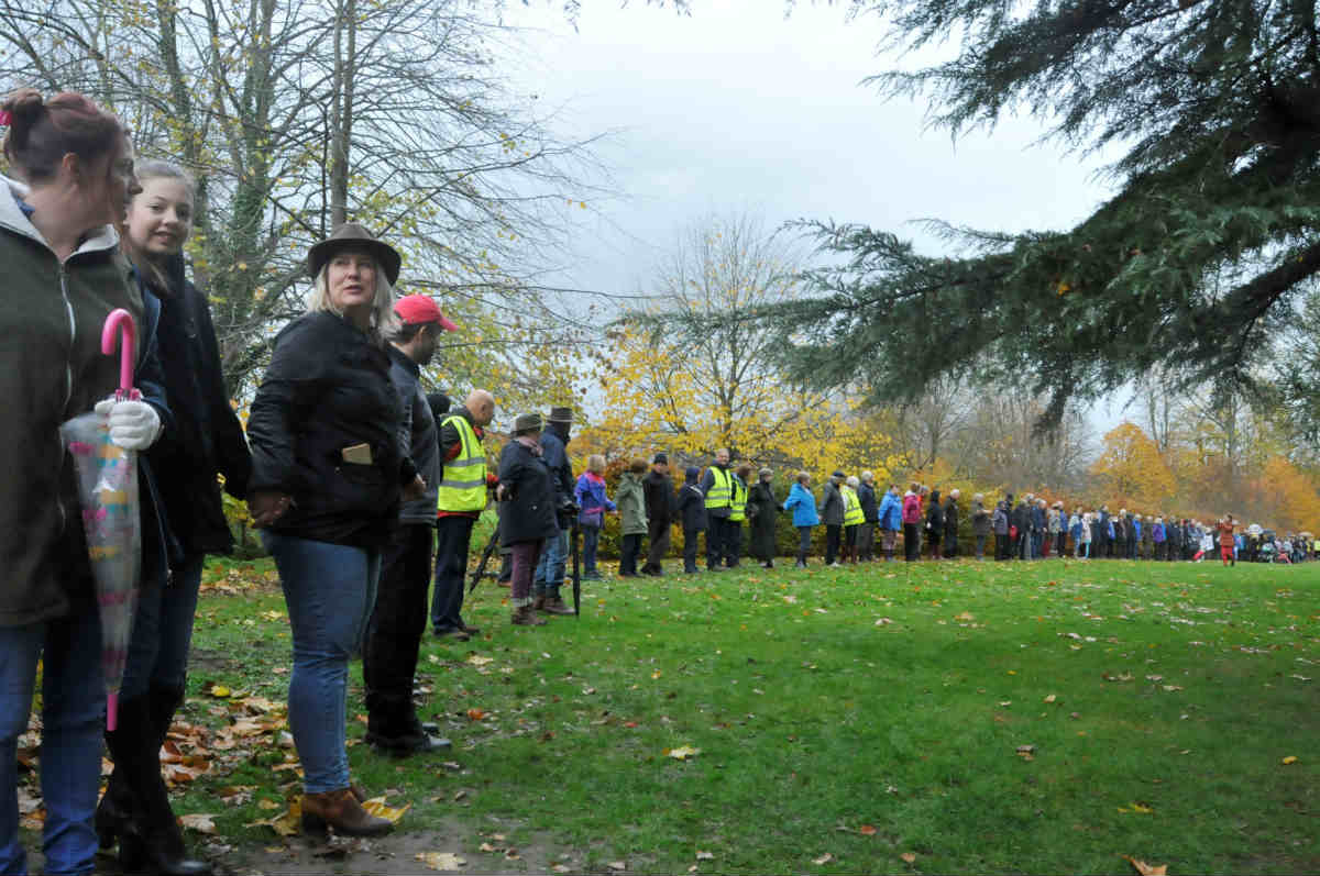 Hundreds Turn Out In Protest To Save The Dorset Land