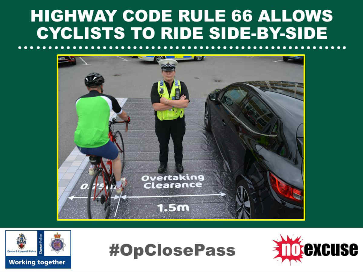 Dorset Police encourage courtesy for all road users - Be #BikeSmart