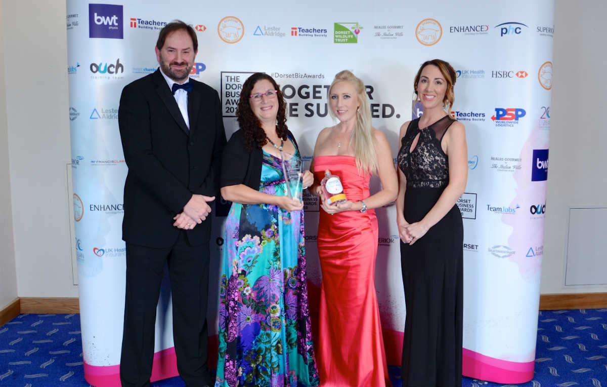 Tops Day Nurseries win Best Dorset Environmental Business Award