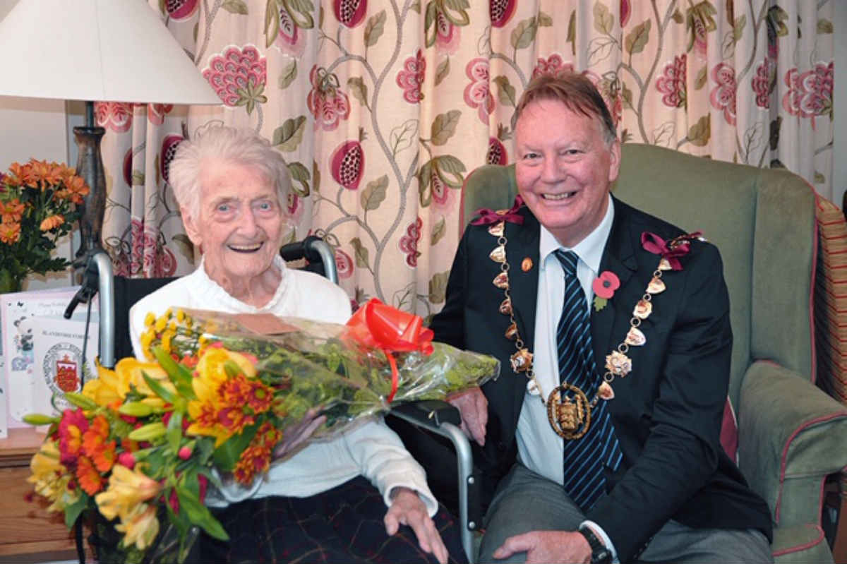 'Blandford girl' Molly celebrates 102nd birthday where she was born and bred