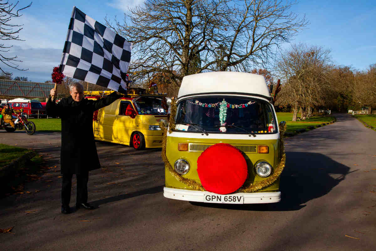 Lord Montagu to start VW Santa Run to hospital