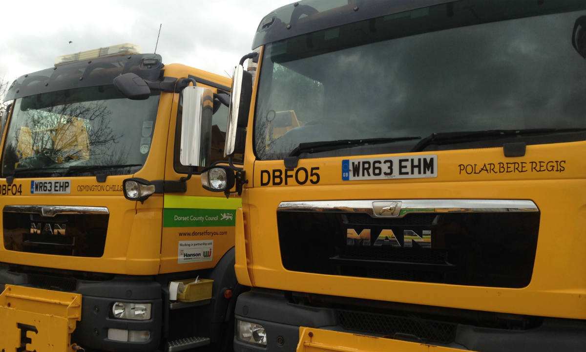 Dorset gritter names revealed