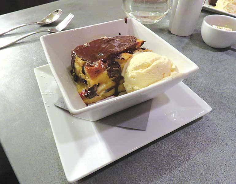 The George Inn Bread and butter pudding