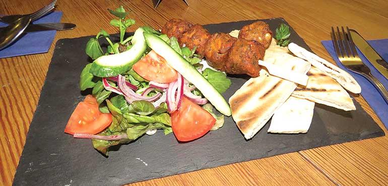 Old Thatch falafel skewers