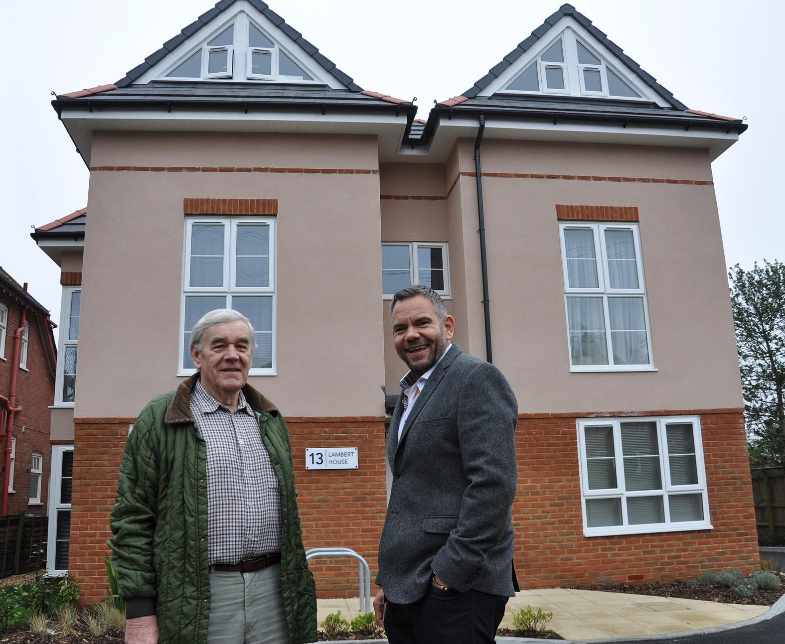 Colin Lambert with Stdeve Wells of DWP Housing Partnership