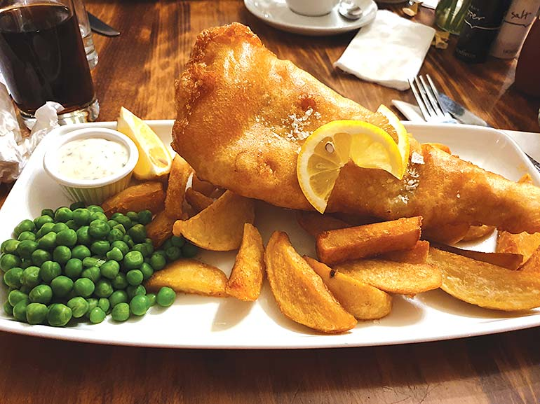 Fish Chips Hotron Inn