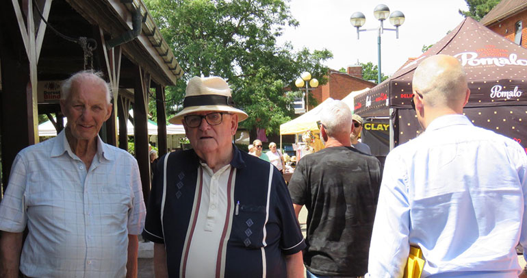 Local man Mick Arnold MBE praised the market as good for Ferndown