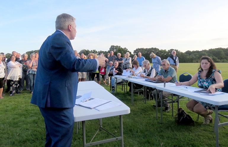Speaker at West Moors Parish Councl meeting