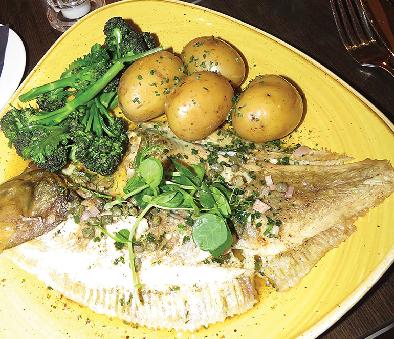 Plaice with broccoli and new potatoes