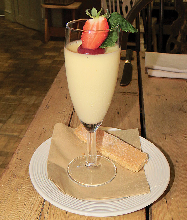 Inn at Cranborne Lemon posset
