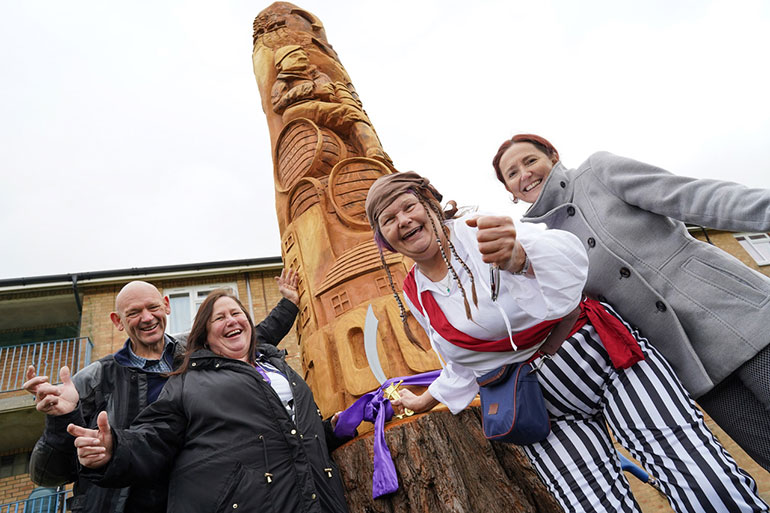 Kinson tree carving celebrates 100 years of council housing