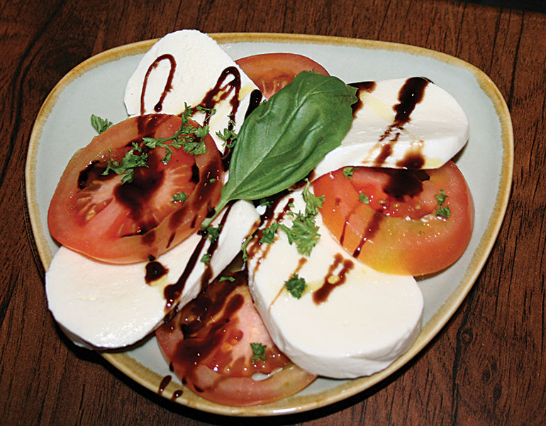 Caprese salad at The Coventry Arms
