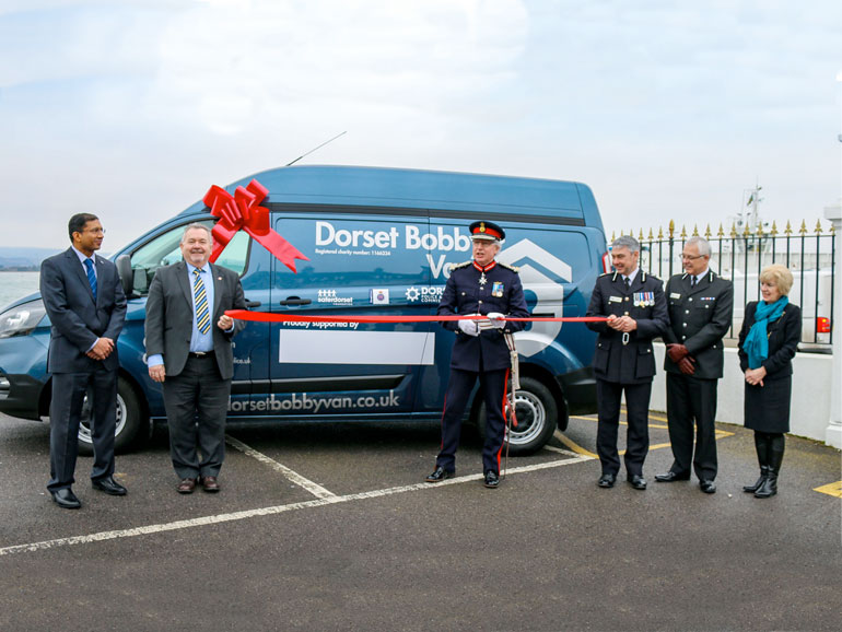Angus Campbell, Lord-Lieutenant with CC James Vaughan, PCC Martyn Underhill and charity trustees