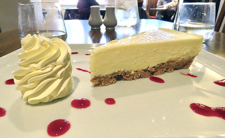 Old Beams lemon cheesecake