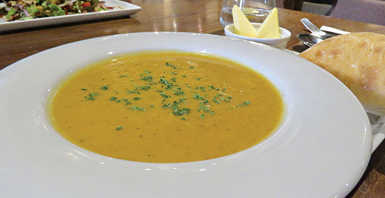 Old Beams Honey roasted parsnip soup