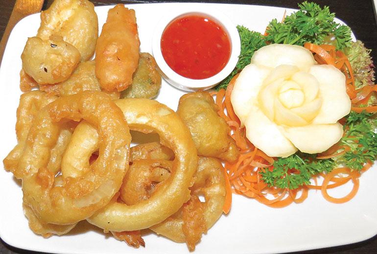 Tiien Southbourne tempura vegetables