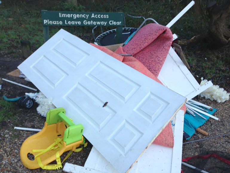 Fly tipping Dorset