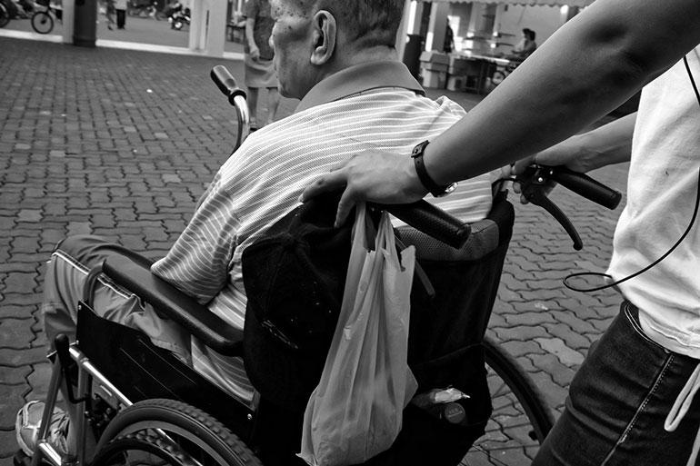 Carers wheelchair