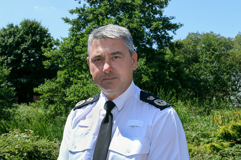 "Chief Constable James Vaughan: ""Our officers will continue to patrol across Dorset to ensure that people are only making essential journeys."""