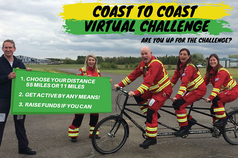 Air Ambulance crew get behind the Coast to Coast Virtual Challenge and ask for support